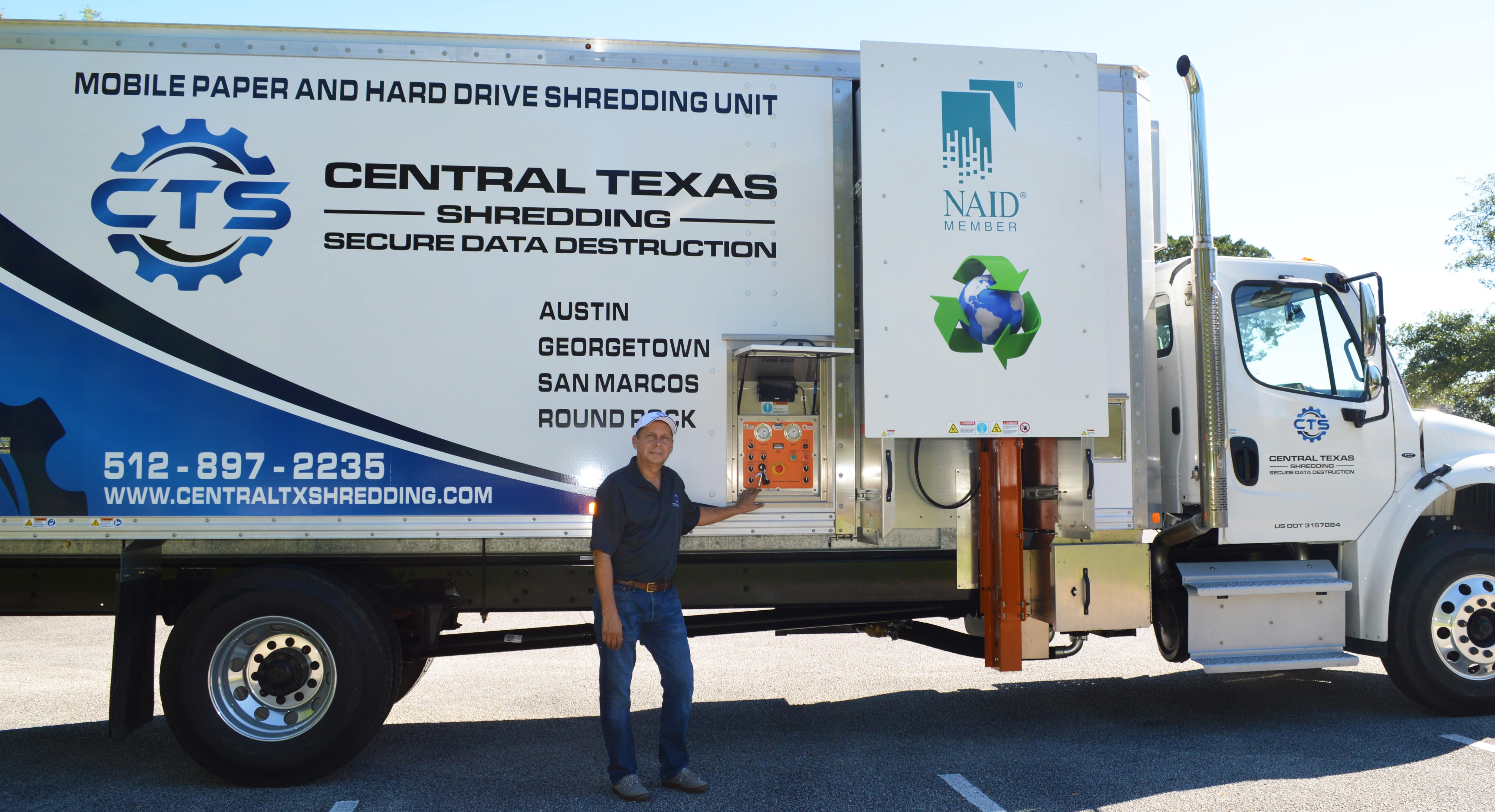 Central Texas Shred Truck in Austin area